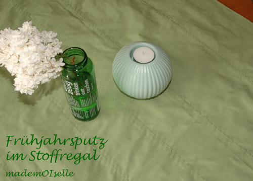 Frühjarsputz im Stoffregal - Grün