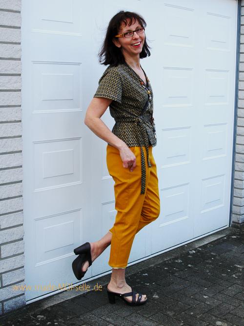 Hose aus Webware Anika und Bluse Fenja aus Jersey
