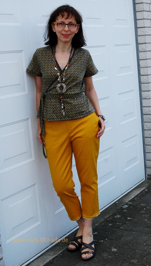 Hose aus Webware Anike und Bluse Fenja aus Jersey