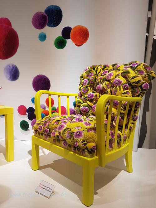 H+H Sessel aus Pompom
