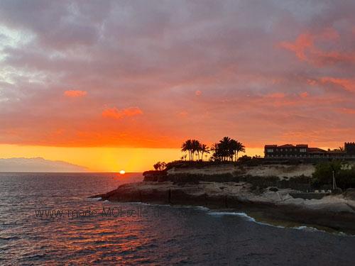 Auf Teneriffa den Sonnenuntergang beobachten