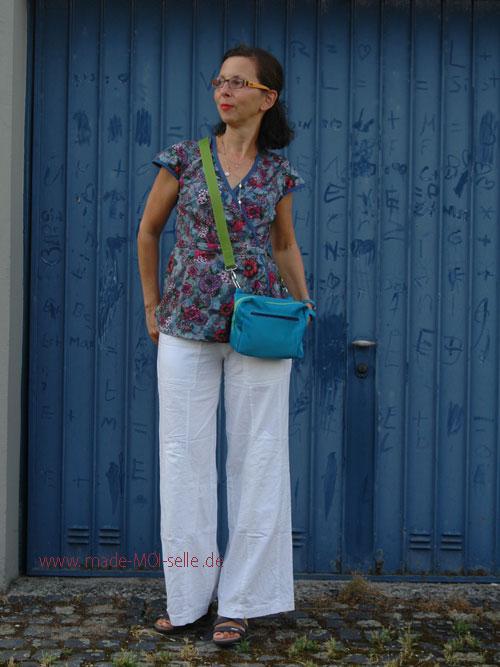Bluse Fenja mit Tasche crossbag