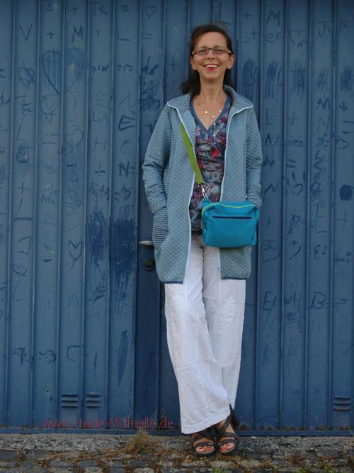 Bluse Fenja mit Sweatjacke MAvinny und Hüfttasche