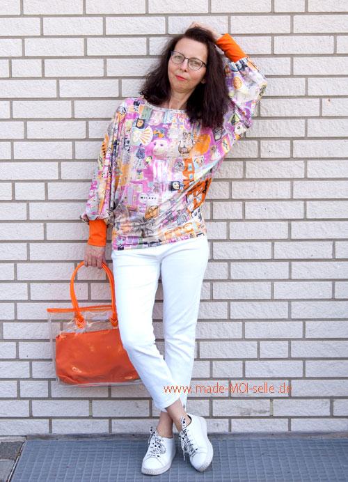 Shirt Poppy und ein bisschen Pop Art in orange