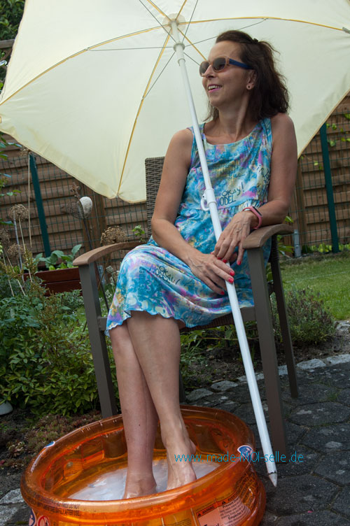 Kleid Annabel mit gekreuzten Trägern