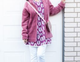 Stufenkleid und Basik-Strickmantel
