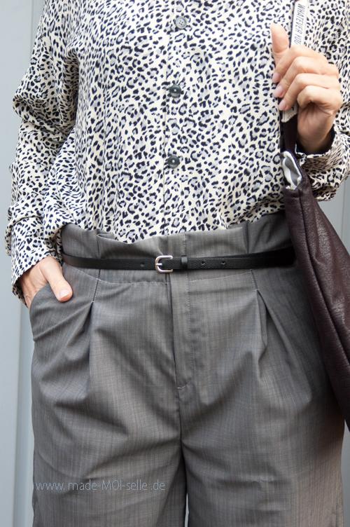 Paperbag Hose Dagy als Culotte mit Boyfriend-Bluse