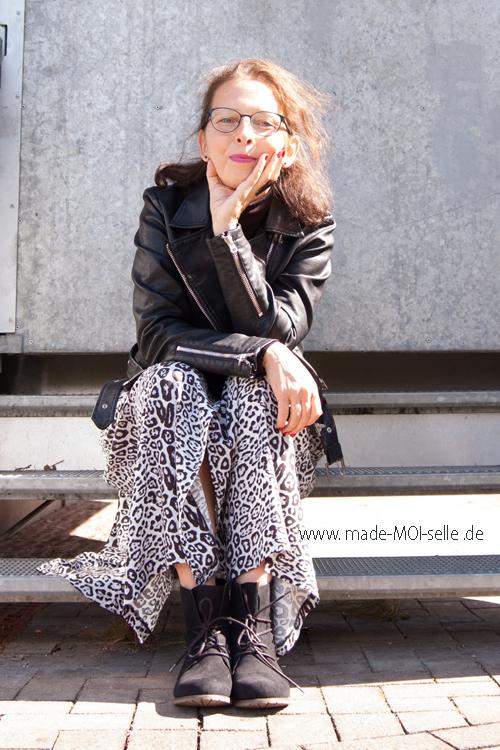 Ein Blusenkleid in der Leo-Maxiversion – sew la la #76