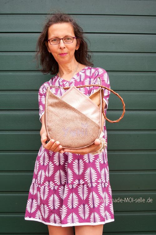 Eine Tasche in Blütenform – sew la la #79